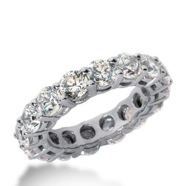 950 Platinum Diamond Eternity Wedding Bands, Shared Prong Setting 5.50 ct. DEB17730PLT