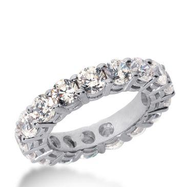 950 Platinum Diamond Eternity Wedding Bands, Shared Prong Setting 6.00 ct. DEB17735PLT