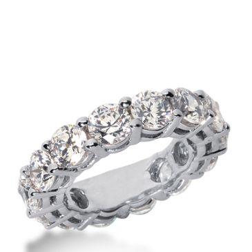 950 Platinum Diamond Eternity Wedding Bands, Shared Prong Setting 7.00 ct. DEB17745PLT