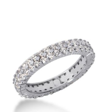 18k Gold Diamond Eternity Wedding Bands, Shared Prong Setting 1.50 ct. DEB1782518K