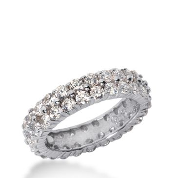 18k Gold Diamond Eternity Wedding Bands, Shared Prong Setting 2.50 ct. DEB178518K