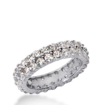 950 Platinum Diamond Eternity Wedding Bands, Shared Prong Setting 2.50 ct. DEB1785PLT