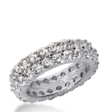 950 Platinum Diamond Eternity Wedding Bands, Shared Prong Setting 4.50 ct. DEB17810PLT