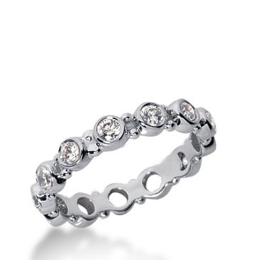 950 Platinum Diamond Eternity Wedding Bands, Bezel Setting 1.00 ct. DEB1967PLT