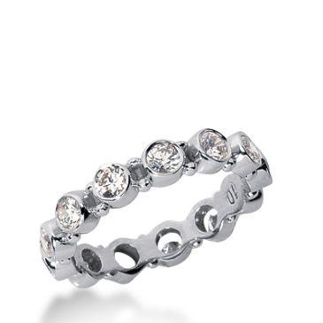 950 Platinum Diamond Eternity Wedding Bands, Bezel Setting 1.25 ct. DEB19610PLT