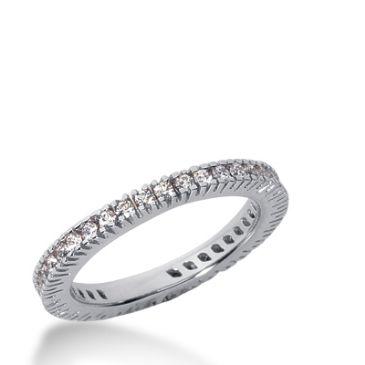 14k Gold Diamond Eternity Wedding Bands, Prong Setting 0.50 ct. DEB226114K