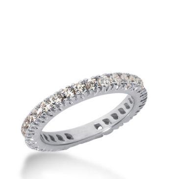 18k Gold Diamond Eternity Wedding Bands, Prong Setting 1.00 ct. DEB226318K