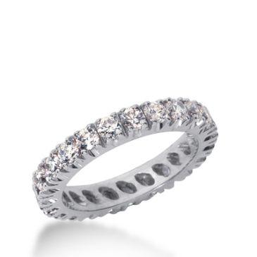 14k Gold Diamond Eternity Wedding Bands, Prong Setting 1.50 ct. DEB226714K