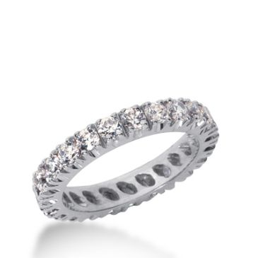 18k Gold Diamond Eternity Wedding Bands, Prong Setting 1.50 ct. DEB226718K