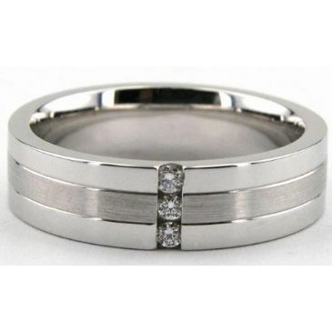 18K Gold 6mm Diamond Wedding Bands Rings 1949
