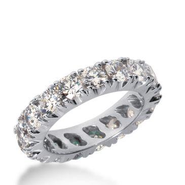 18k Gold Diamond Eternity Wedding Bands, Prong Setting 2.00 ct. DEB2261018K