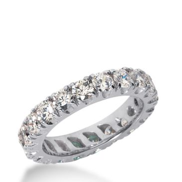 18k Gold Diamond Eternity Wedding Bands, Prong Setting 3.00 ct. DEB2261518K