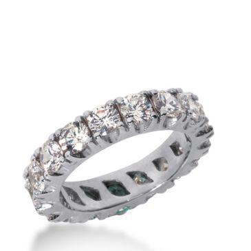 18k Gold Diamond Eternity Wedding Bands, Prong Setting 3.50 ct. DEB2262018K