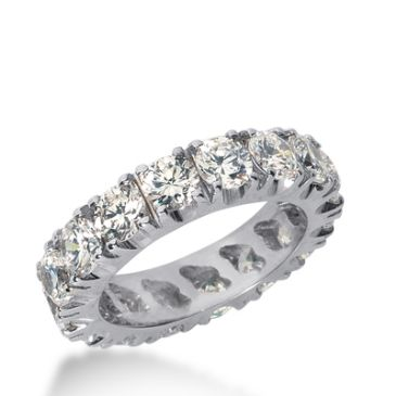 18k Gold Diamond Eternity Wedding Bands, Prong Setting 4.00 ct. DEB2262518K