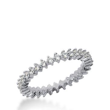 950 Platinum Diamond Eternity Wedding Bands, Common Prong Setting 0.50 ct. DEB245PLT