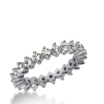 18k Gold Diamond Eternity Wedding Bands, Common Prong Setting 1.50 ct. DEB24818K