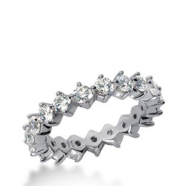 14k Gold Diamond Eternity Wedding Bands, Common Prong Setting 2.00 ct. DEB24914K