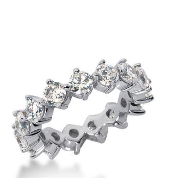 18k Gold Diamond Eternity Wedding Bands, Common Prong Setting 4.00 ct. DEB25218K