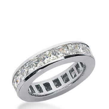 950 Platinum Diamond Eternity Wedding Bands, Channel Setting 5.50 ct. DEB1604PLT