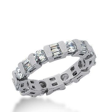 950 Platinum Diamond Eternity Wedding Bands, Bar Setting 2.50 ctw. DEB191PLT