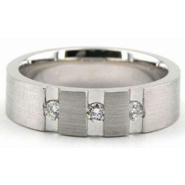 18K Gold 6mm Diamond Wedding Bands Rings 1946