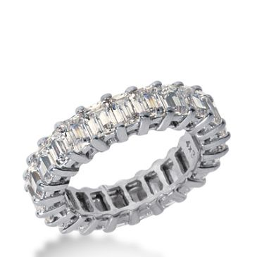 18k Gold Diamond Eternity Wedding Bands, Common Prong Setting 5.50 ct. DEB20218K