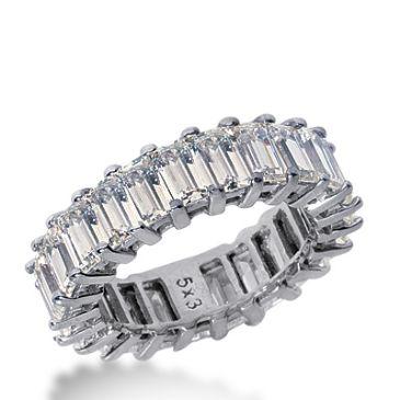 14k Gold Diamond Eternity Wedding Bands, Common Prong Setting 7.50 ct. DEB20314K