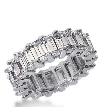 14k Gold Diamond Eternity Wedding Bands, Common Prong Setting 9.50 ct. DEB20414K