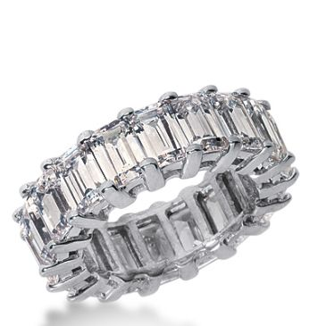 18k Gold Diamond Eternity Wedding Bands, Common Prong Setting 9.50 ct. DEB20418K