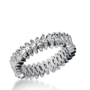 14k Gold Diamond Eternity Wedding Bands, Prong Setting 3.00 ct. DEB20714K