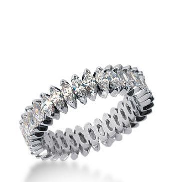 18k Gold Diamond Eternity Wedding Bands, Prong Setting 3.00 ct. DEB20718K