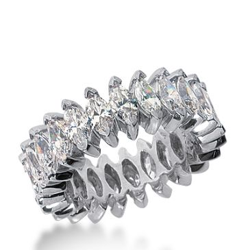 950 Platinum Diamond Eternity Wedding Bands, Prong Setting 5.00 ct. DEB208PLT