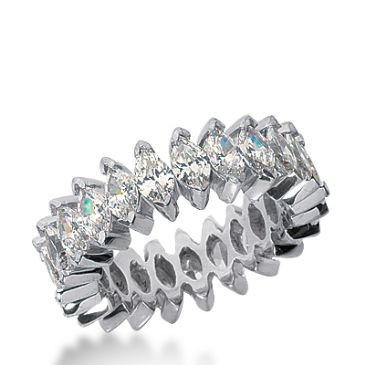 950 Platinum Diamond Eternity Wedding Bands, Prong Setting 6.00 ct. DEB209PLT