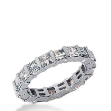 950 Platinum Diamond Eternity Wedding Bands, Bar Setting 2.50 ctw. DEB219PLT