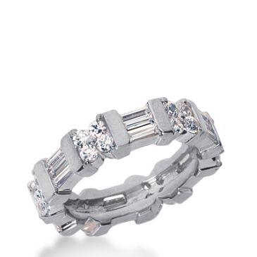 18k Gold Diamond Eternity Wedding Bands, Bar Setting 2.50 ct. DEB22818K