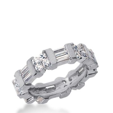 950 Platinum Diamond Eternity Wedding Bands, Bar Setting 2.50 ct. DEB228PLT