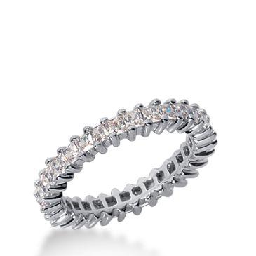 950 Platinum Diamond Eternity Wedding Bands, Shared Prong Setting 1.50 ct. DEB229PLT