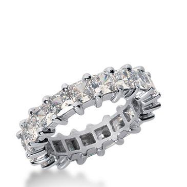 950 Platinum Diamond Eternity Wedding Bands, Shared Prong Setting 5.50 ct. DEB232PLT