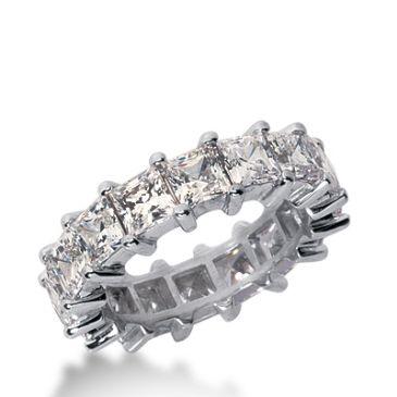 950 Platinum Diamond Eternity Wedding Bands, Shared Prong Setting 7.00 ct. DEB233PLT