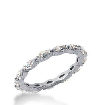 14k Gold Diamond Eternity Wedding Bands, Bezel Setting 1.25 ct. DEB23414K