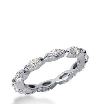 18k Gold Diamond Eternity Wedding Bands, Bezel Setting 1.50 ct. DEB23518K