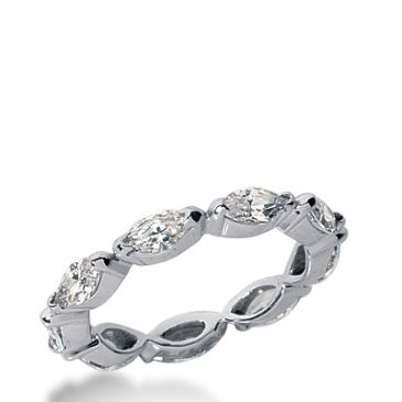 950 Platinum Diamond Eternity Wedding Bands, Bezel Setting 2.50 ct. DEB236PLT