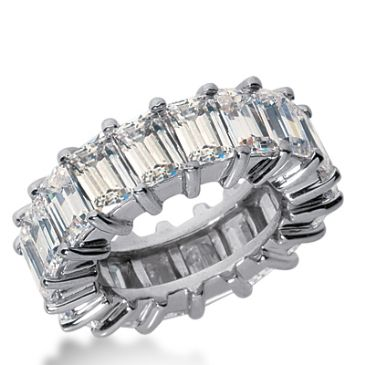950 Platinum Diamond Eternity Wedding Bands, Shared Prong Setting 12.00 ct. DEB244PLT