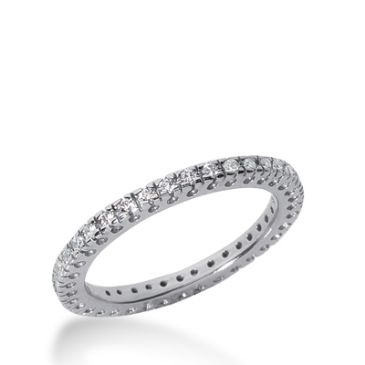 18k Gold Diamond Eternity Wedding Bands, Box Setting 0.35 ct. DEB25318K