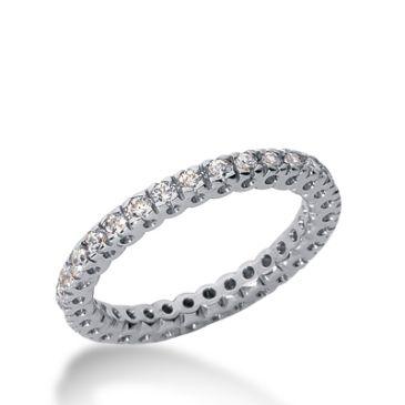 14k Gold Diamond Eternity Wedding Bands, Box Setting 0.50 ct. DEB25414K