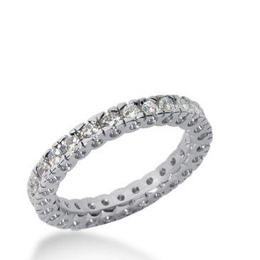 14k Gold Diamond Eternity Wedding Bands, Box Setting 0.75 ct. DEB25514K
