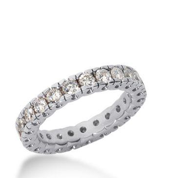 18k Gold Diamond Eternity Wedding Bands, Box Setting 1.25 ct. DEB25618K