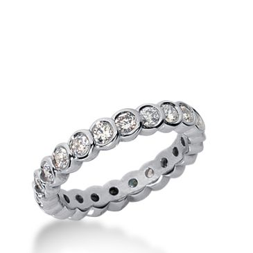18k Gold Diamond Eternity Wedding Bands, Bezel Set 1.00 ct. DEB25918K