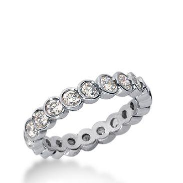 18k Gold Diamond Eternity Wedding Bands, Bezel Set 1.50 ct. DEB26018K