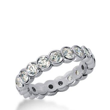 18k Gold Diamond Eternity Wedding Bands, Bezel Set 2.00 ct. DEB26118K